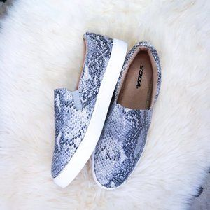 Shoes - SODA Snakeskin Casual Tennis Shoes